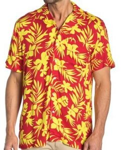 Mens Onia Vacation Shirt Flame Button Down NWT